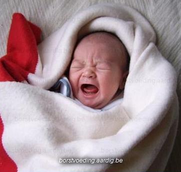 Hongerhuilen baby bij borstvoeding