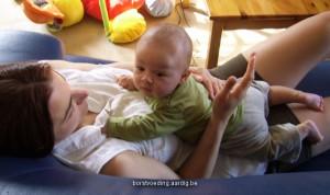 Baby en mama
