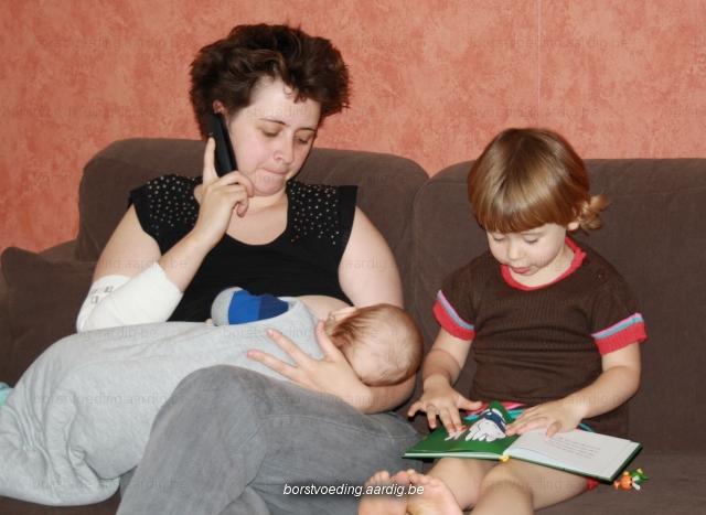 niet genoeg borstvoeding