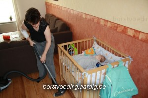 Stofzuigen terwijl baby slaapt