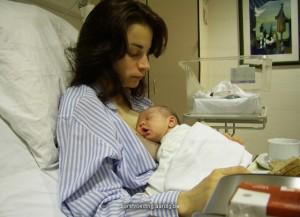 Baby bij mama