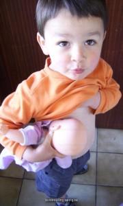 Pop borstvoeding geven