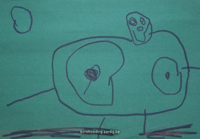Borstvoeding tekening mama
