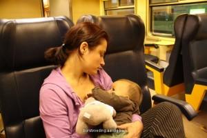 Borstvoeding in de trein