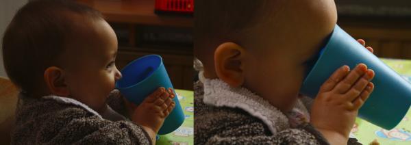 beker met borstvoeding